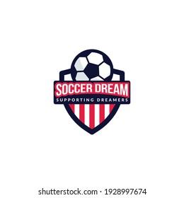High quality soccer logo design template