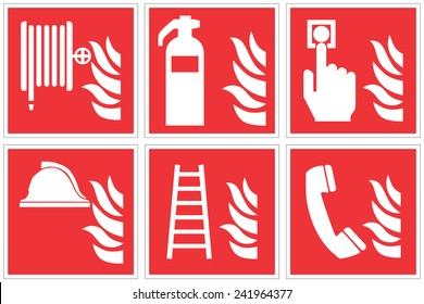 High quality Standard fire safety sign collection