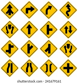High quality Standard Traffic sign collection.