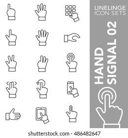 High quality thin line icons of hand gesture and finger signs. Linelinge are the best pictogram pack unique linear design for all dimensions and devices. Stroke vector logo symbol and website content.