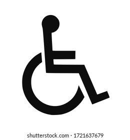 High quality vector illustration of the man on wheelchair handicapped symbol - Official international version
