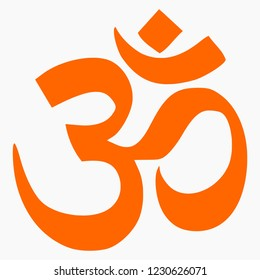 High quality vector illustration of the Om religious symbol