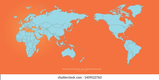 high quality vector infographic of world map