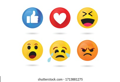 High quality vector round yellow cartoon bubble emoticons comment.