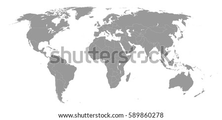 High quality world map borders countries stock vector royalty free high quality world map with borders of the countries gumiabroncs Images
