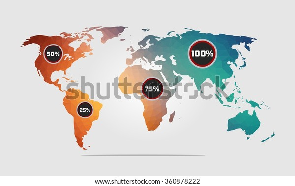 High Quality World Map Green Blue Stock Vector (Royalty Free ...