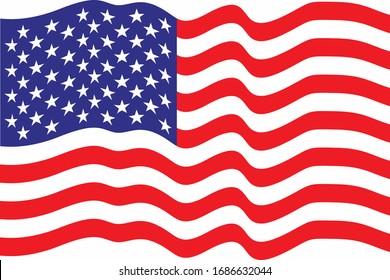 High resolution american flag. Waving Flag of USA background.