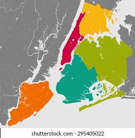 Brooklyn Queens Map Images Stock Photos Vectors Shutterstock