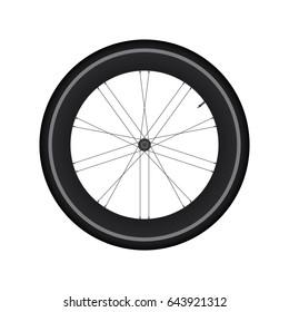 High Rim Wheel Road Bike vector