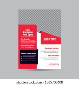 High School Education Flyer, Business Flyers Vector Design,