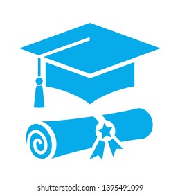 High school graduation vector icon isolated on white background