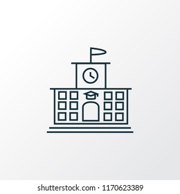 High school icon line symbol. Premium quality isolated college element in trendy style.