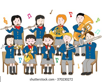 High school students music concert.