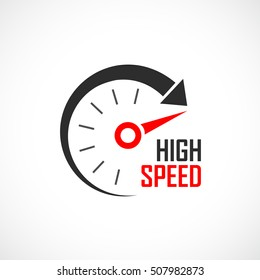 High speed logo vector illustration isolated on white background