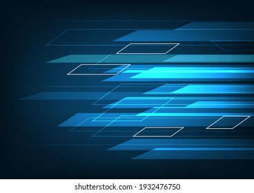 High speed movement, Abstract technology background. concept innovation. vector illustration.