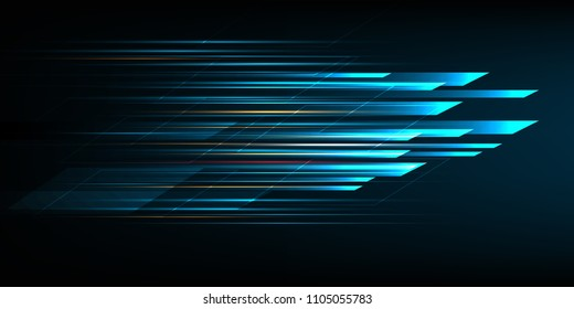 High speed movement design. Hi-tech. Abstract technology background. Vector illustration.