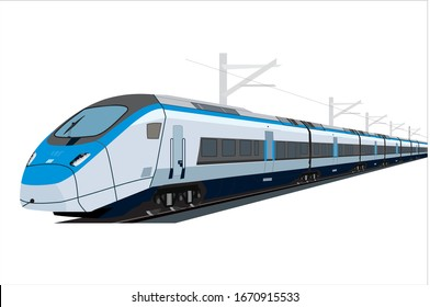 High Speed Train, Metro Vector, Railway