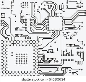 High tech circuit board vector background.