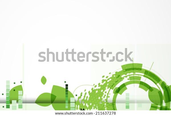 High Tech Eco Green Infinity Computer Royalty Free Stock Image