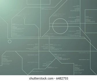 High Tech Readout Vector Background