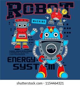 high techlonology robot,vector art illustration