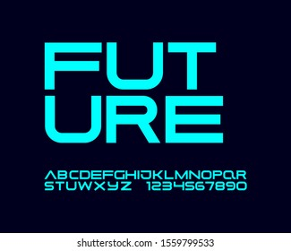 High Technology futuristic font set
