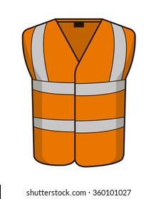 High vis vest orange