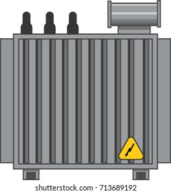 High Voltage Electrical Transformer Vector Icon
