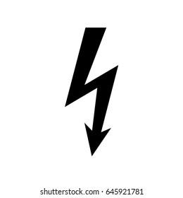 High voltage icon. Shock warning symbol.