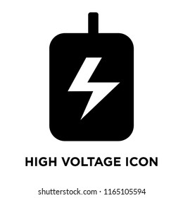 High voltage icon vector isolated on white background, High voltage transparent sign