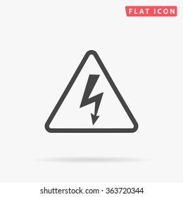 High voltage Icon Vector. Simple flat symbol. Illustration pictogram