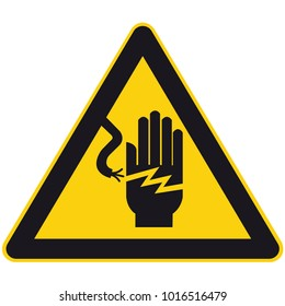high voltage sign or electrical safety