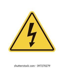 High Voltage Sign. Vector illustration, EPS10.