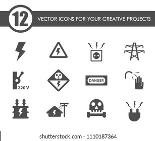 Current transformer images stock photos vectors shutterstock high voltage vector icons for your creative ideas ccuart Image collections