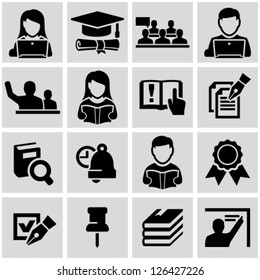 Higher education icons