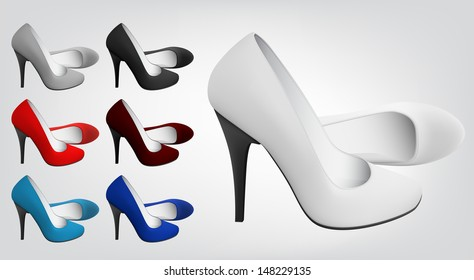 highheeled blank shoes template stock vector royalty free