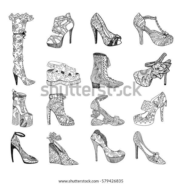 Vector De Stock Libre De Regalías Sobre Zapatos De Tacón