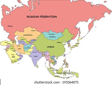 Map Of Asia Full Hd.Asia Political Map Images Stock Photos Vectors Shutterstock