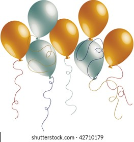 Highly Detailed Gold and Silver Balloons.