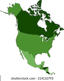 Highly Detailed North America political map