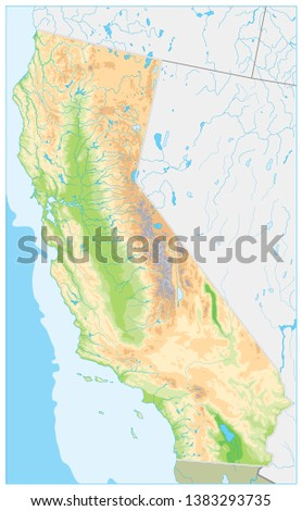 Detailed Map Of California on