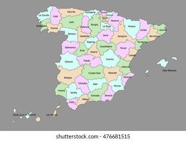 Mapa Mudo Provincias España Tamaño Folio.Vectores Imagenes Y Arte Vectorial De Stock Sobre Mapa