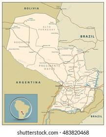 Asuncion Map Images Stock Photos Vectors Shutterstock