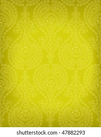 Highly detailed seamless background with paisley floral