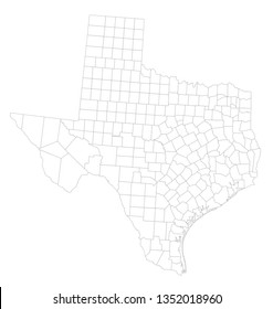 Highly Detailed Texas Blind Map.