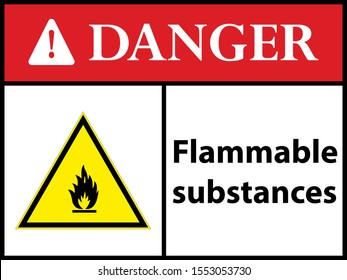 Highly flammable substances. sign. Vector illustration.  EPS 10