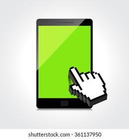 High-quality smartphone screen.