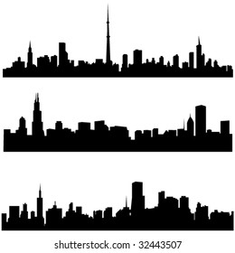 The high-rise buildings in American cities