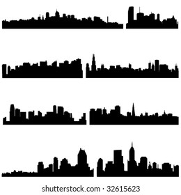 The high-rise buildings in American Well-known cities