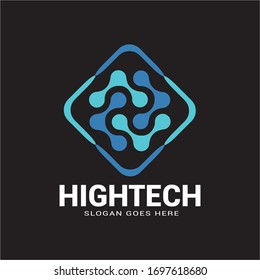 hightech logo design concept . vector template for business